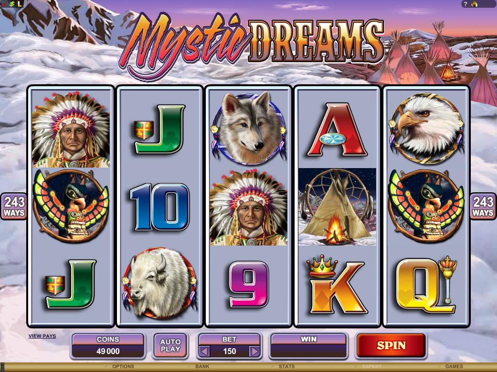 Hit the multiple wild jackpot for sweet Mystic Dreams!